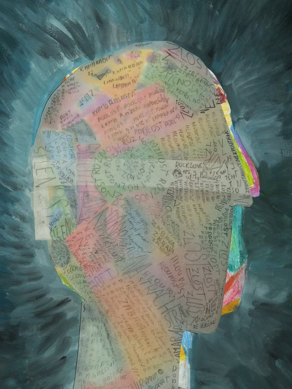 Image:head covered with writing