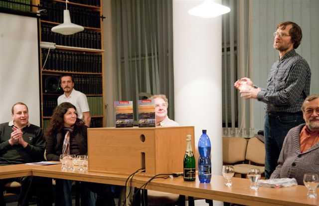 Image:Radek MIkuláš introducing his book Ice Bohemia